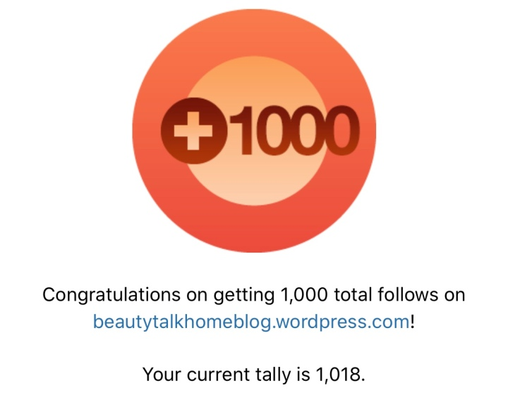 Milestone: 1000 Followers!